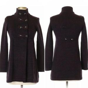 Style&Co Marled Dk Wine Coatigan Cardigan Sweater